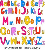 hand drawn alphabet letters  | Shutterstock .eps vector #559885249