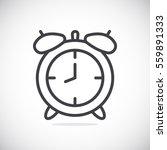 clock icon flat.
