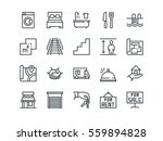 real estate. set of outline... | Shutterstock .eps vector #559894828