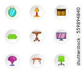 type of furniture icons set.... | Shutterstock . vector #559894840