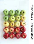 gradient apples on white... | Shutterstock . vector #559899013