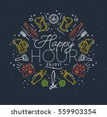 Alcohol Monogram In Flat Style...
