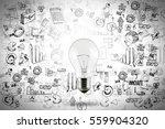 idea for business growth with... | Shutterstock . vector #559904320