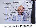 businessman hand drawing... | Shutterstock . vector #559906210