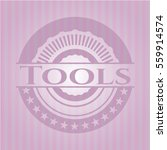 tools badge with pink background | Shutterstock .eps vector #559914574