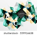 polygonal triangle abstract... | Shutterstock .eps vector #559916638