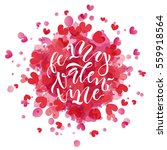 hand drawn valentines day... | Shutterstock .eps vector #559918564