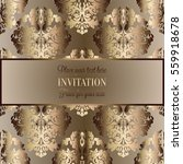 baroque background with antique ... | Shutterstock .eps vector #559918678