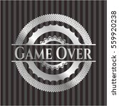 game over silvery badge   Shutterstock .eps vector #559920238