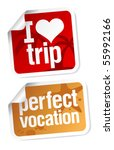 perfect vacation stickers set | Shutterstock .eps vector #55992166