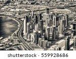Stock photo doha skyline aerial view qatar 559928686