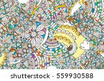 patched doodle background... | Shutterstock .eps vector #559930588