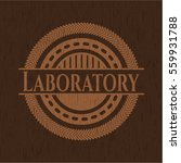 laboratory badge with wood... | Shutterstock .eps vector #559931788