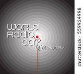 banner for world radio day on... | Shutterstock .eps vector #559934998