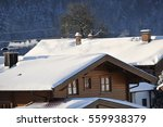 old house gable with balcony ... | Shutterstock . vector #559938379