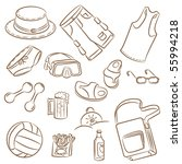 collection of the doodle on... | Shutterstock .eps vector #55994218