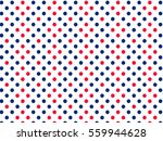 Red Blue White Dots Pattern