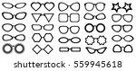 set of glasses isolated. 25... | Shutterstock .eps vector #559945618