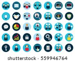 set of thirty five flat... | Shutterstock .eps vector #559946764