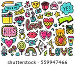 doodles cute elements. color... | Shutterstock .eps vector #559947466