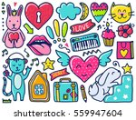 doodles cute elements. color... | Shutterstock .eps vector #559947604