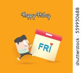 thanks god it's friday concept... | Shutterstock .eps vector #559950688