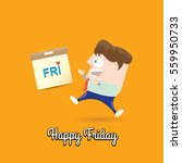 thanks god it's friday concept... | Shutterstock .eps vector #559950733