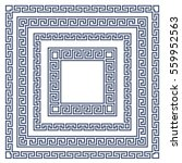 square frame with greek... | Shutterstock .eps vector #559952563