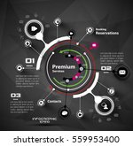 vector design of infographic... | Shutterstock .eps vector #559953400