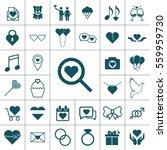valentine icon set | Shutterstock . vector #559959730