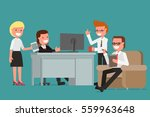 office business people ... | Shutterstock .eps vector #559963648