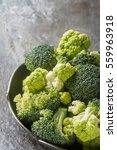 Ripe Green Broccoli And...