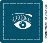 icon of an eye of the woman   Shutterstock .eps vector #559965958