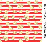 seamless pattern with popcorn.... | Shutterstock .eps vector #559967578