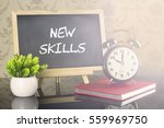 new skills on blackboard with... | Shutterstock . vector #559969750