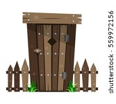 wooden toilet and the fence.... | Shutterstock .eps vector #559972156