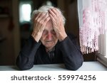 an elderly woman in a state of... | Shutterstock . vector #559974256