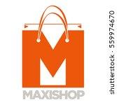 m letter shopping bag icon... | Shutterstock .eps vector #559974670