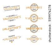 flat happy valentine's day... | Shutterstock .eps vector #559976278