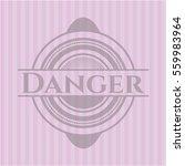danger badge with pink... | Shutterstock .eps vector #559983964