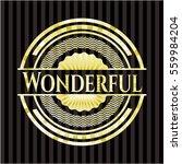 wonderful gold badge or emblem | Shutterstock .eps vector #559984204