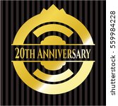20th anniversary gold badge or... | Shutterstock .eps vector #559984228