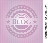 blog badge with pink background | Shutterstock .eps vector #559988224