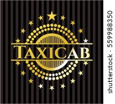 taxicab gold emblem or badge | Shutterstock .eps vector #559988350