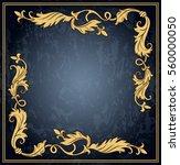 vintage ornament frame in retro ... | Shutterstock .eps vector #560000050