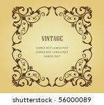 vintage frame. jpeg version... | Shutterstock .eps vector #56000089