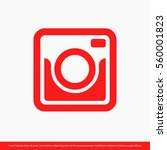 retro camera icon. one of set... | Shutterstock .eps vector #560001823