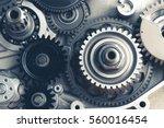 Engine Gears Wheels  Closeup...