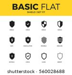 basic set of shield  obscure... | Shutterstock .eps vector #560028688