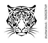 isolated muzzle the tiger.... | Shutterstock .eps vector #560028769